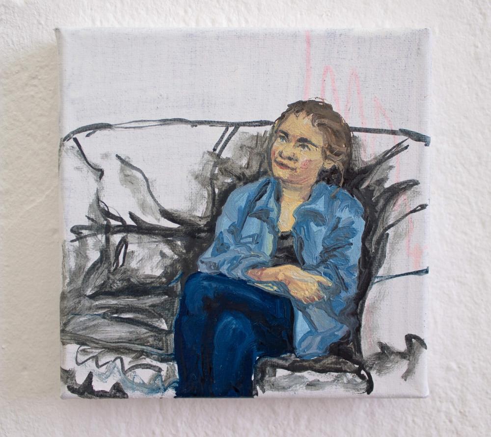 Luki auf dem Sofa